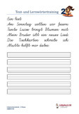 deutsch arbeitsbl tter bung text lernw rtertraining 2 klasse. Black Bedroom Furniture Sets. Home Design Ideas