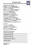 Englisch Grammatik Simple Past 5.Klasse Uebungsblaetter