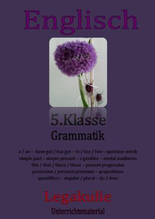 5 klasse grammatik 5th grade grammar englisch arbeitsbl tter. Black Bedroom Furniture Sets. Home Design Ideas