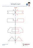Spiegelung Mathematik Arbeitsblatt Übungen PDF