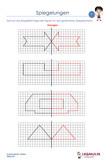 Spiegelung Mathematik 3.Klasse Arbeitsblatt Übungen