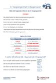 2.Vergangenheit / Gegenwart Arbeitsblätter 4.Klasse