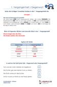 1.Vergangenheit / Gegenwart Deutsch Aufgaben PDF