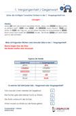 1.Vergangenheit / Gegenwart Deutsch 3.Klasse Übungen PDF