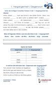 1.Vergangenheit Gegenwart Arbeitsblatt Übungen PDF