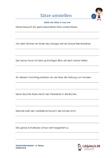 Sätze umstellen Klassenarbeit Schulprobe 4.Klasse PDF
