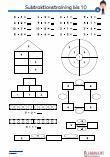 Subtraktion - 10 Mathematik 1.Klasse Arbeitsblatt Übungen PDF