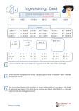 Tagestraining Geld / Euro Arbeitsblätter 3.Klasse PDF
