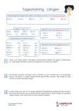 Tagestraining Längen Mathematik 3.Klasse Arbeitsblatt