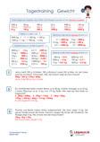 Tagestraining Gewicht Mathematik 3.Klasse Aufgaben