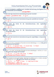 Volumenberechnung Pyramide Arbeitsblätter Übungen PDF