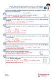 Volumenberechnung Zylinder Arbeitsblätter Übungen PDF