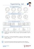 Tagestraining Zeit / Uhr 4.Klasse Arbeitsblatt Übungen
