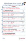 Volumenberechnung Prisma Übungen Arbeitsblatt PDF