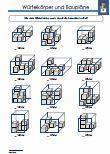 Würfelkörper / Baupläne Mathematik 4.Klasse Übungen
