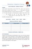 Adjektive Wiewörter Schulprobe Klassenarbeit 4.Klasse