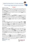 Adjektive - Wiewörter - Lückentext Deutsch 4.Klasse