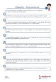 Dreisatz Proportionalität Mathematik Arbeitsblatt Übungen PDF