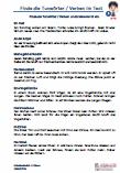 Tunwörter - Verben Optische Differenzierung 2. Klasse