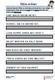 Sätze ordnen 1. Klasse Deutsch Arbeitsblatt Übungen