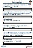 Satztraining 1.Klasse Deutsch Übungen Schulprobe PDF