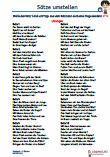 Sätze umstellen 1. Klasse Deutsch Arbeitsblätter PDF