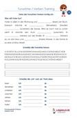 Tunwörter / Verben 1.Klasse Deutsch Übungen PDF