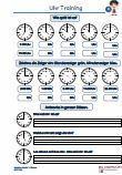 Tagestraining Uhr / Zeit 1.Klasse Mathematik Übungen