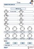 Time Uhrzeit Englisch Grammatik Klassenarbeit