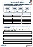 Textverständnis Deutsch 1.Klasse Übungen Arbeitsblatt
