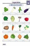 Vegetables / Gemüse Englisch 5.Klasse Arbeitsblatt PDF