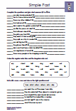 Simple Past Übungen Arbeitsblatt Lernzielkontrolle PDF