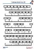 Zahlenstrahl  - 20