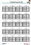 Zahlenhaus - 20 Übungen 3 Ebenen Schulprobe Mathematik