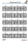 Zahlenhaus - 20 Übungen 4 Ebenen Schulaufgabe Mathematik