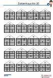 Zahlenhaus - 20 Übungen 5 Ebenen Schularbeit Mathematik