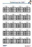 Zahlenhaus - 1000 3.Klasse Übungen Schulprobe PDF