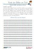 Rechtschreibtraining Schularbeit 4. Klasse Ausgangsschrift