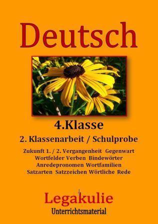 2. Schulprobe  Lernzielkontrolle 4. Klasse Deutsch