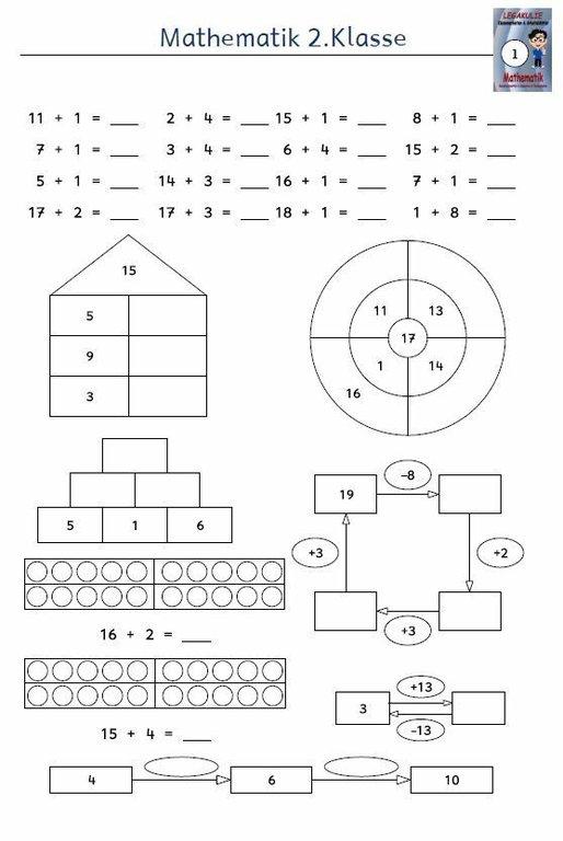 kostenloses arbeitsblatt 2 klasse mathematik addition pdf. Black Bedroom Furniture Sets. Home Design Ideas