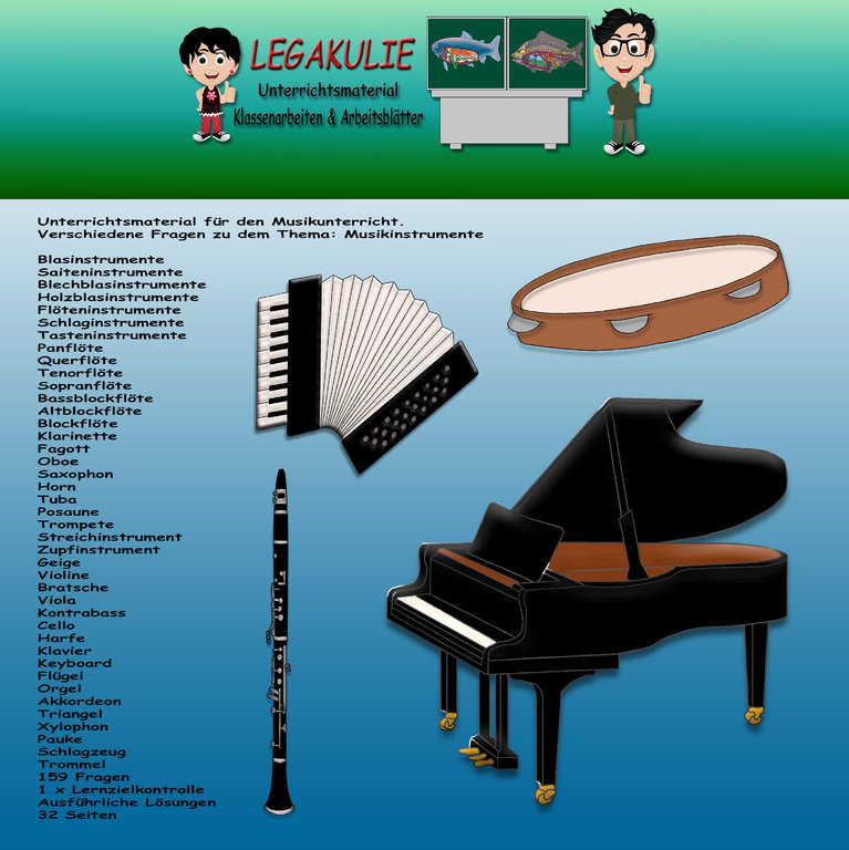 musikinstrumente klassenarbeit lernzielkontrolle pdf. Black Bedroom Furniture Sets. Home Design Ideas