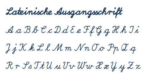lateinische ausgangsschrift