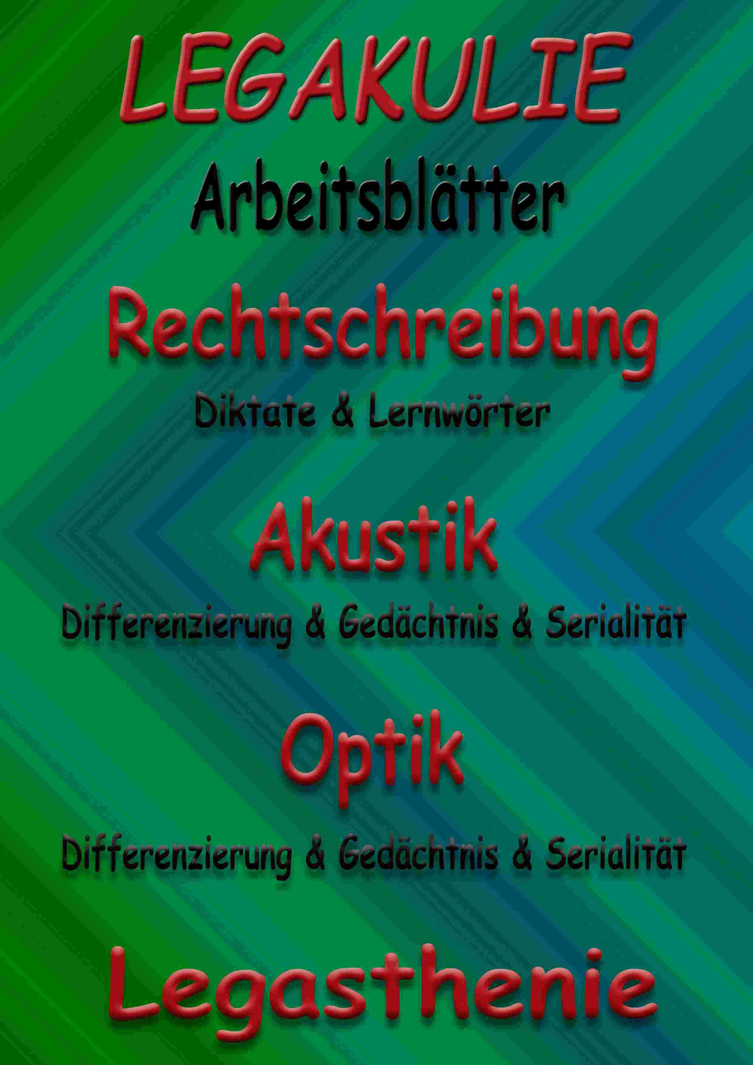 Legasthenie Arbeitsblatt Übungen PDF Deutsch Unterrichtsmaterial